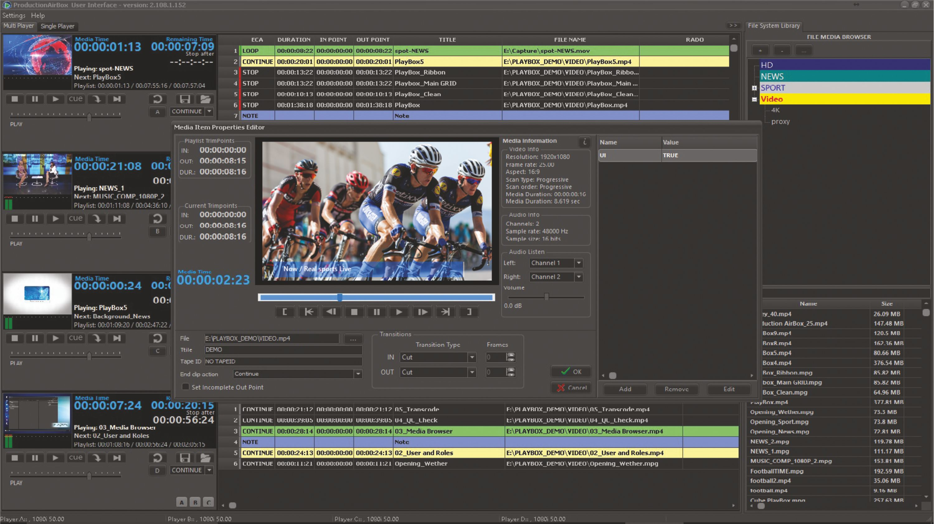 Production Playout | PlayBox Neo