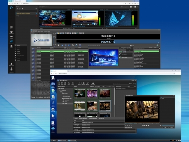 PlayBox Neo Capture Suite, AirBox Neo and Cloud2TV GUI examples