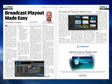 Broadcast Playout Made Easy article